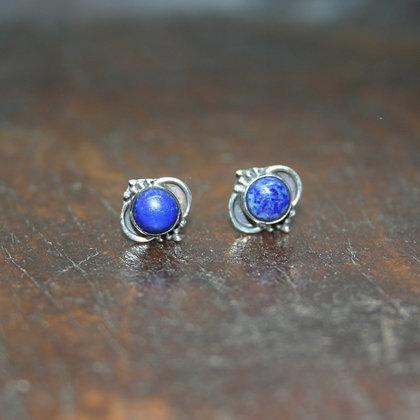 Detailed Lapis Lazuli Studs