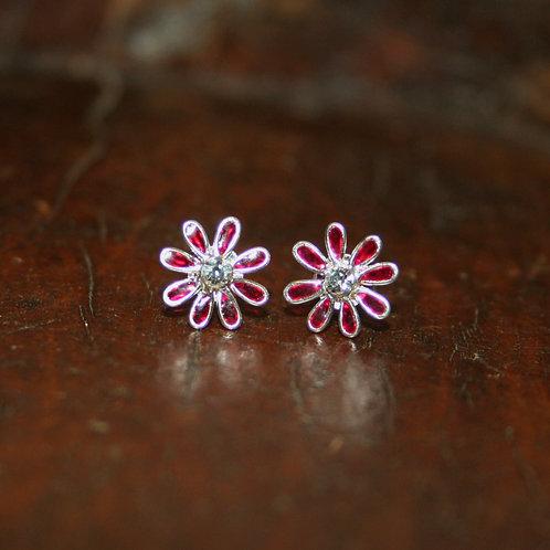 Pink Daisy Studs