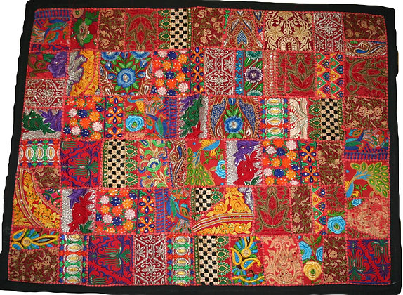 Red Patchwork Wall Hanging Medium