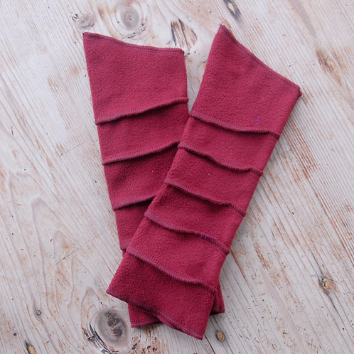 Fleece Wrist Warmers Burgundy