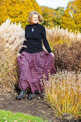 Purple Butterfly Jaipur Skirt