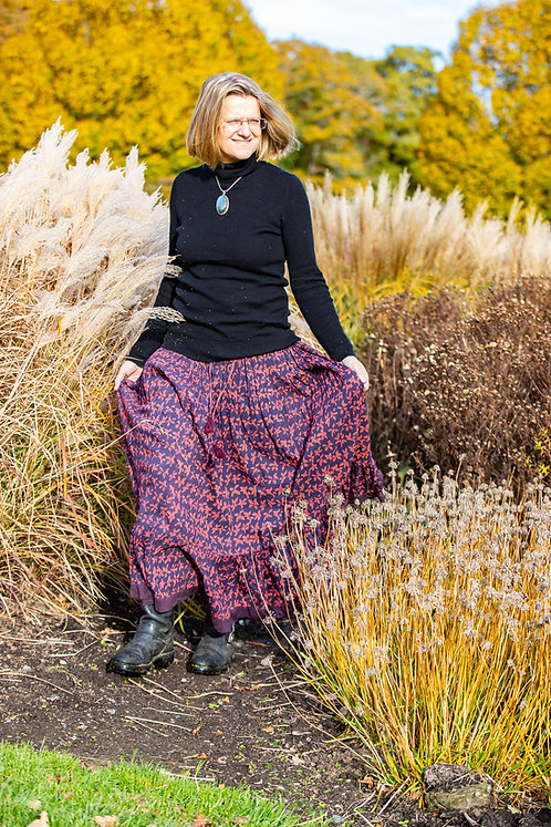 Purple Butterfly Jaipur Skirt