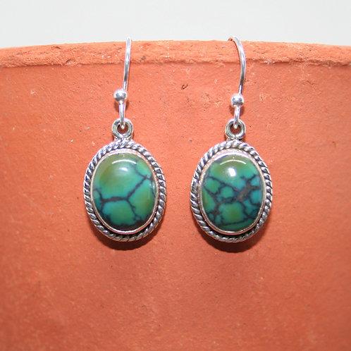 Green Turquoise Earrings