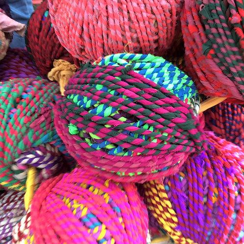 Ball of Recycled Sari Ribbon