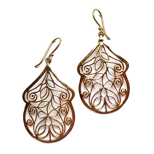 Encased Falling Flower Earrings