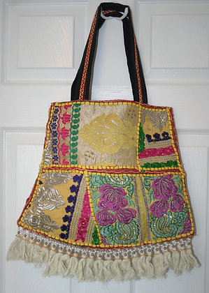 Yellow Patchwork Bell Bag