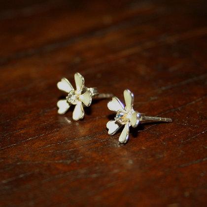 White Flower Studs
