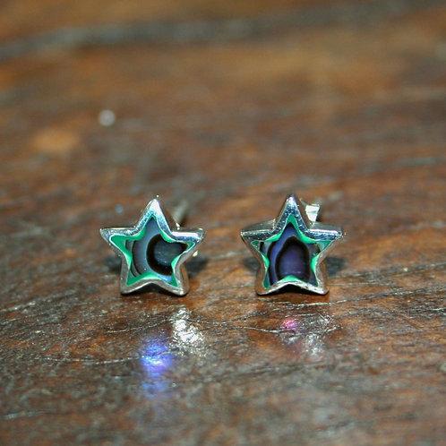 Abalone Star Studs