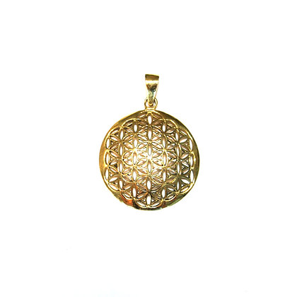Curved Flower of Life Pendant