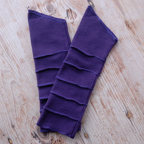 Fleece Wrist Warmers Purple