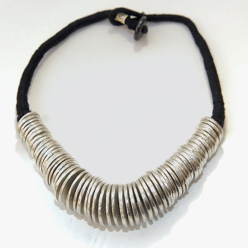 Chunky Metal Disk Necklace