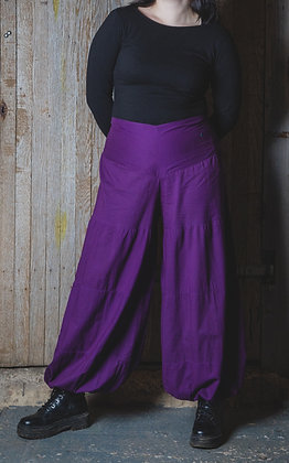 Purple Cotton Harem Trousers