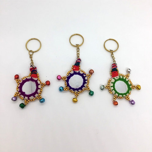 Crochet and Mirror Key Rings (pack of 3)