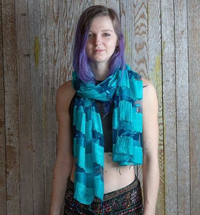 Turquoise Silk Scarf