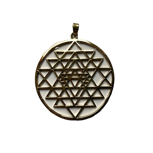 Triangles in Cirlcle Pendant