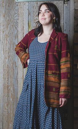 Burgundy Wool Embroidered Jacket