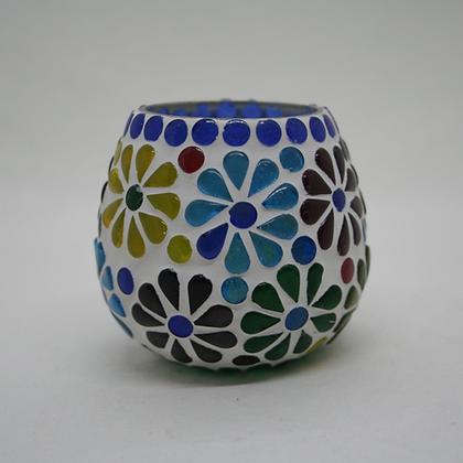 Glass Flower Tea Light