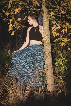 Indigo Butterfly Jaipur Skirt