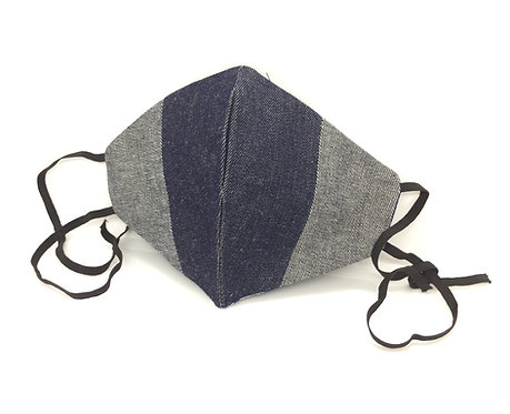 Denim Shaped Face Masks with Ties