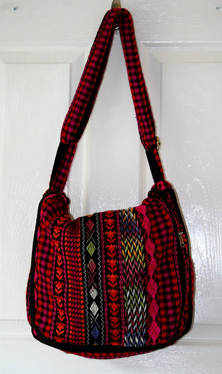 Red Aztec Shoulder Bag