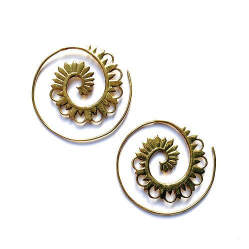 Crown Swirl Earrings