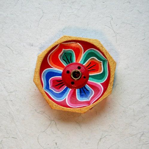 Octagonal Flower Incense Holder