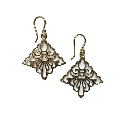Whirl Diamond Earrings