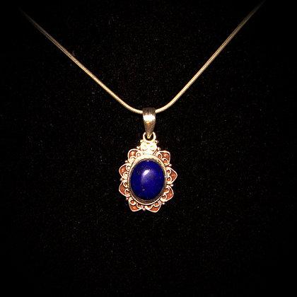 Lapis Lazuli Flower Pendant