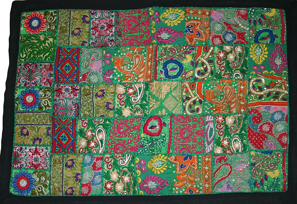 Green Patchwork Wall Hanging Small