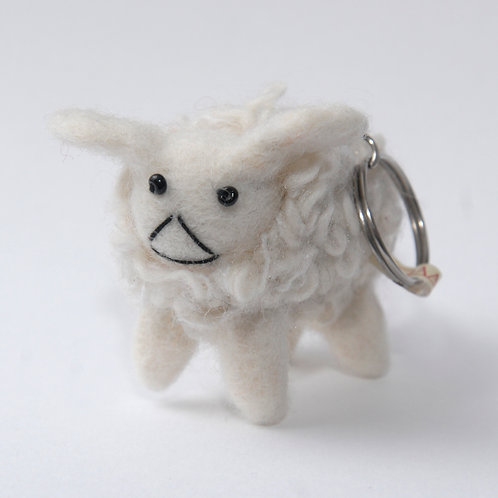 Nepalese Felt and Wool Sheep Keyring