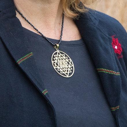 Large Triangle Mandala Pendant
