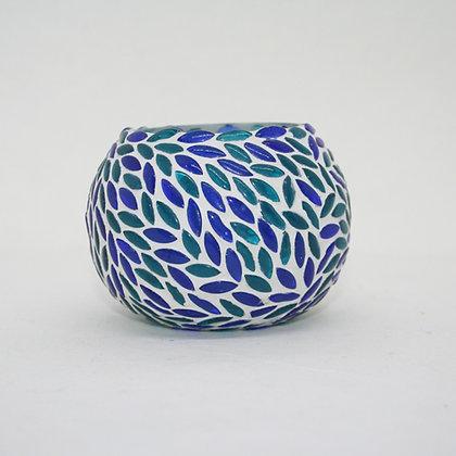 Blue and Green Glass Tea Light