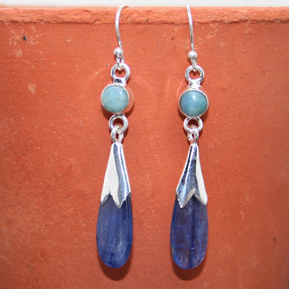 Kyanite and Larimar Earrings