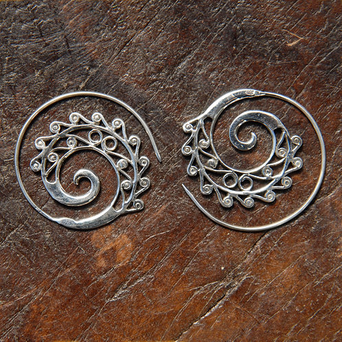 Whirling Wave Spiral Hoops