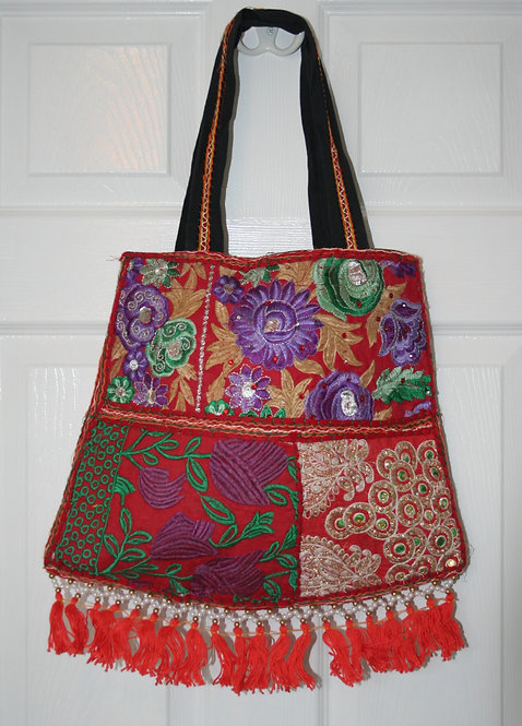 Red Patchwork Bell Bag