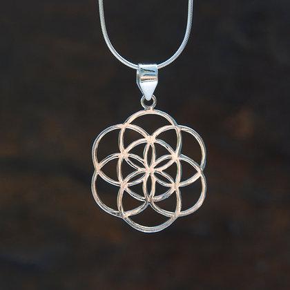 Mandala Silver Pendant no.1