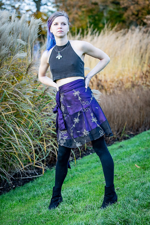 Purple Sitara Skirt