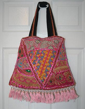 Pink Patchwork Bell Bag