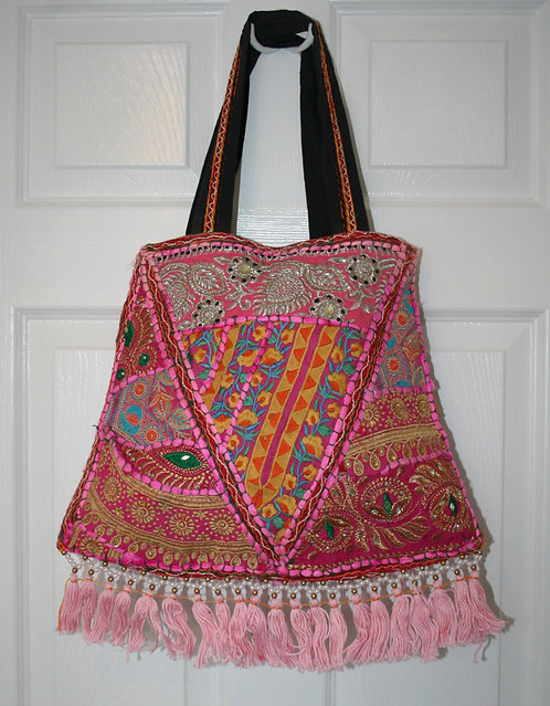 Pink Patchwork Bell Bag
