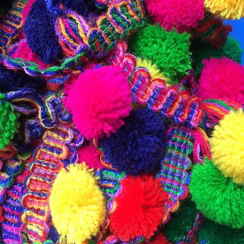 Colourful Pom Pom Ribbon