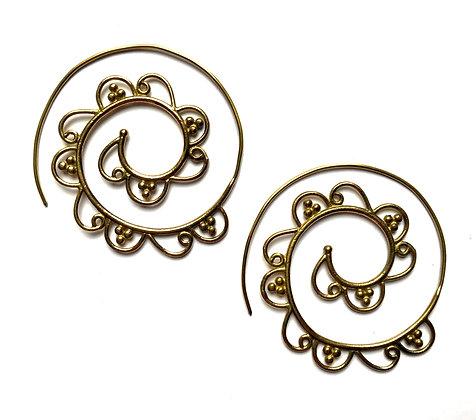Spiral Swirl Earrings