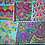 Thumbnail: Turquoise Patchwork Wall Hanging Small