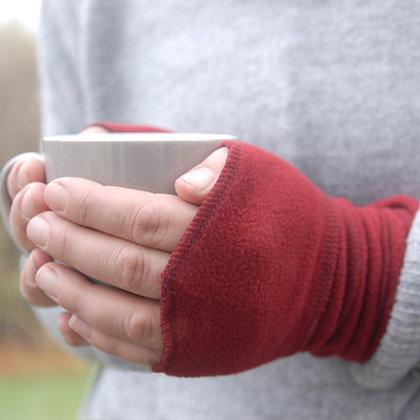 Fleece Wrist Warmers Burgundy