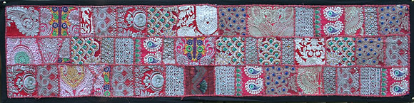 Red Patchwork Table Runner