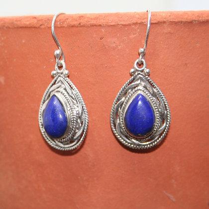 Teardrop Lapis Lazuli Earrings