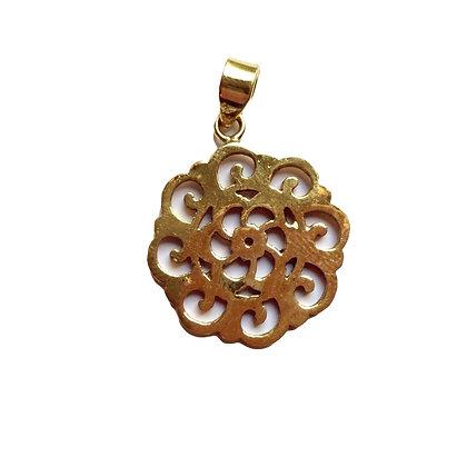 Swirl Flower Pendant