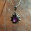Thumbnail: Teardrop Amethyst Pendant with Traditional Detail