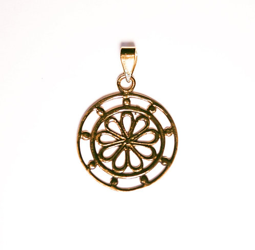 Flower Circle Pendant