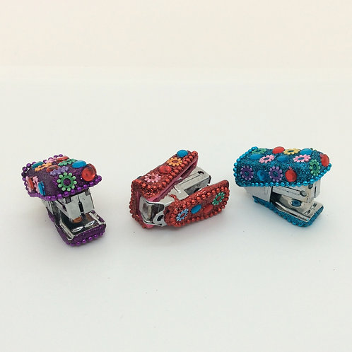 Sparkly Mini Staplers - Pack of Three