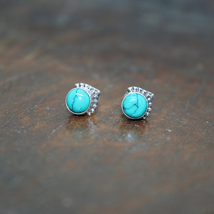 Turquoise Studs with Arrow Detail